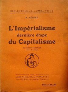 Primeira edição francesa de O Imperialismo, Fase Superior do Capitalismo.